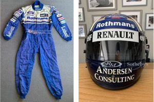 Overall and Helmet of Damon Hill