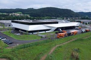 La fábrica de KTM en Munderfing