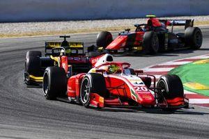 Mick Schumacher, Prema Racing, leads Guanyu Zhou, UNI-VIRTUOSI, and Felipe Drugovich, MP Motorsport