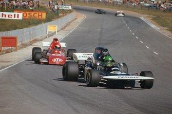Henri Pescarolo, March 721 Ford, leads Niki Lauda, March 721 Ford