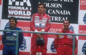 Ayrton Senna, McLaren, Nelson Piquet, Benetton, Nigel Mansell, Ferrari, GP del Canada del 1990