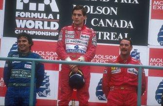 Ayrton Senna, McLaren, Nelson Piquet, Benetton, Nigel Mansell, Ferrari