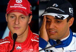 Michael Schumacher, Ferrari, Juan Pablo Montoya, BMW Williams