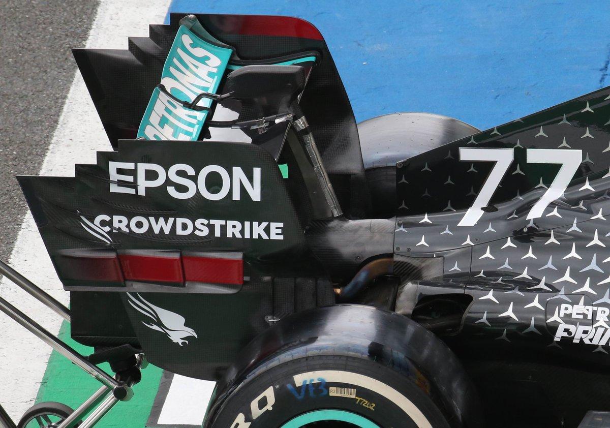Alerón trasero del Mercedes AMG F1 W11