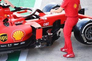 Sidepod detail of the Sebastian Vettel Ferrari SF1000