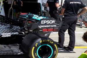Detalle del alerón trasero del Mercedes F1 W11