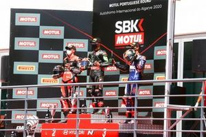 Scott Redding, Aruba.it Racing Ducati, Jonathan Rea, Kawasaki Racing Team, Michael van Der Mark, Pata Yamaha