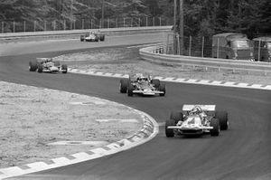 Ronnie Peterson, March 701, Jochen Rindt, Lotus 72C, Emerson Fittipaldi, Lotus 49C
