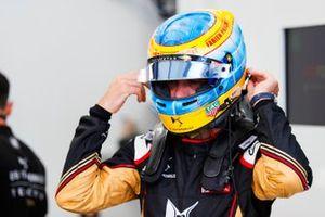 Jean-Eric Vergne, DS Techeetah, porte un casque en hommage à Fabien Pauchet