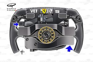 Volant de la Ferrari SF90 de Sebastian Vettel