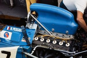 Engine detail on Henri Pescarolo's Matra MS120