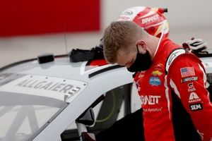 Justin Allgaier, JR Motorsports during the national anthem