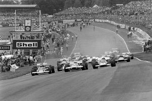 The start: Jochen Rindt, Jack Brabham and Jacky Ickx