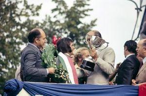Podio: ganador de la carrera Emerson Fittipaldi, Lotus