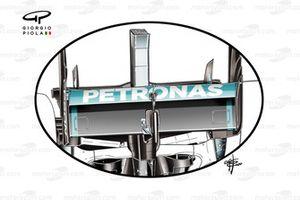 L'ala posteriore, Mercedes AMG F1 W11, al GP 70° Anniversario