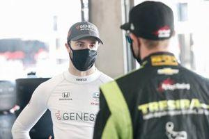 James Hinchcliffe, Andretti Autosport Honda, Charlie Kimball, A.J. Foyt Enterprises Chevrolet