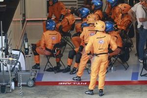 Team McLaren in garage