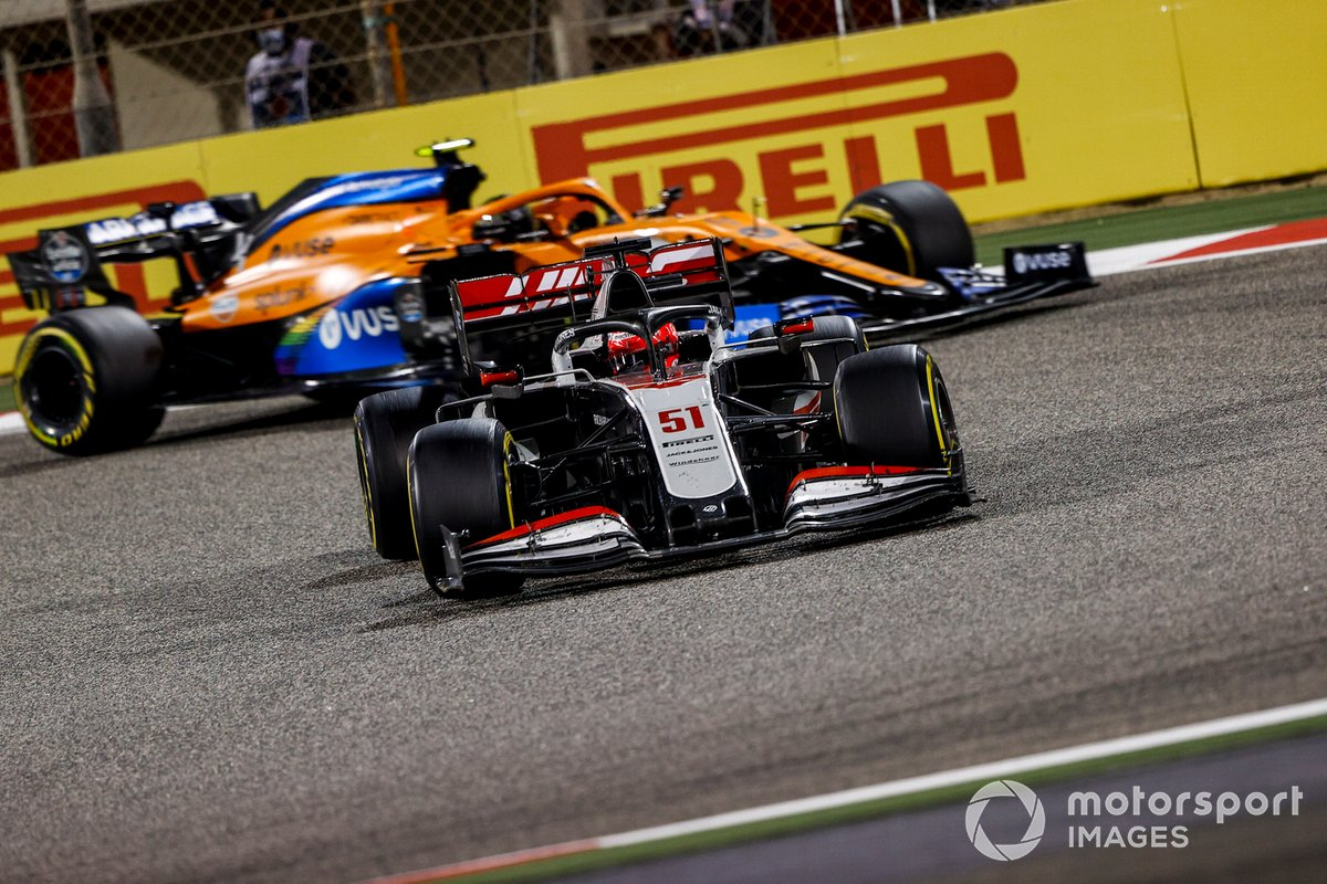 Pietro Fittipaldi, Haas F1 Haas VF-20, Lando Norris, McLaren MCL35