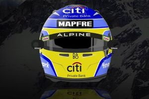 El casco de Fernando Alonso, Alpine F1 Team