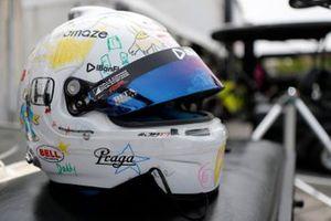 Romain Grosjean, Dale Coyne Racing with Rick Ware Racing Honda helmet