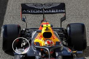 Alex Albon, Red Bull Racing RB16 floor detail