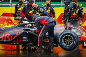 Max Verstappen, Red Bull Racing RB16 op de grid