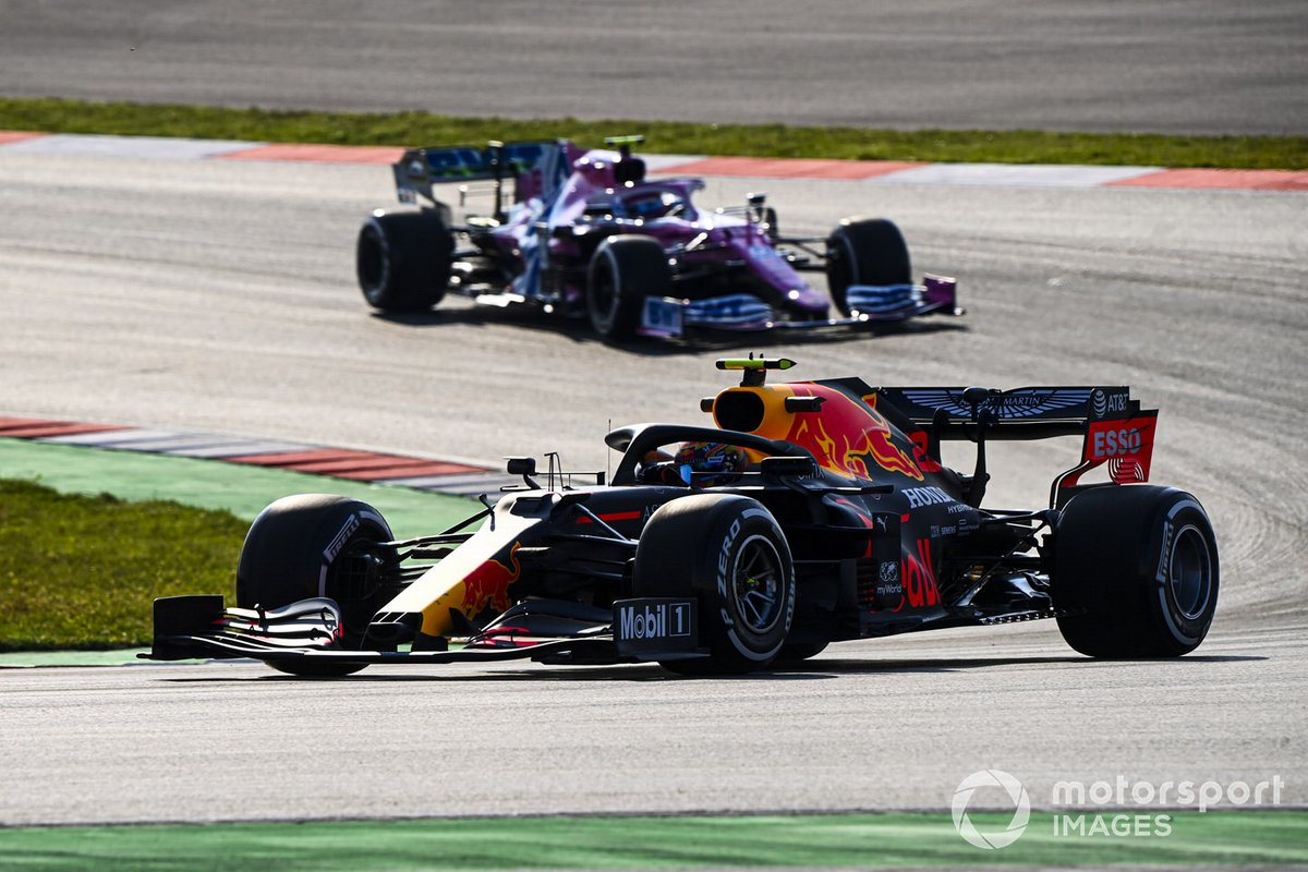 Alex Albon, Red Bull Racing RB16, Lance Stroll, Racing Point RP20