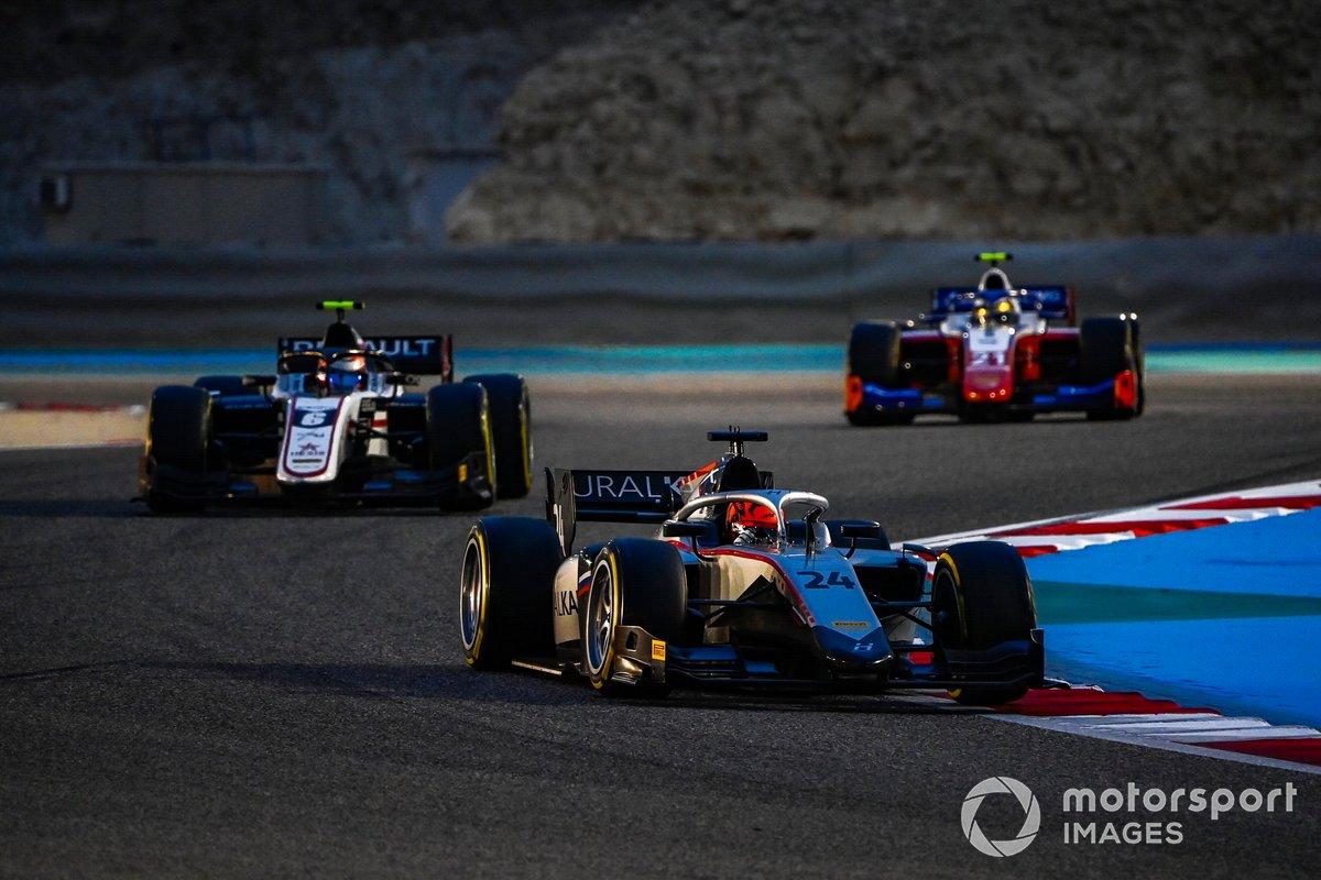 Nikita Mazepin, Hitech Grand Prix, precede Christian Lundgaard, ART Grand Prix, e Robert Shwartzman, Prema Racing