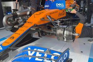 McLaren MCL35M front brake duct