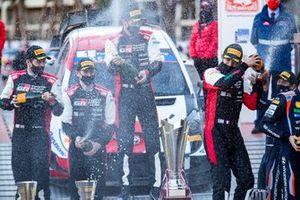 Podium: Sébastien Ogier, Julien Ingrassia, Toyota Gazoo Racing WRT Toyota Yaris WRC, Elfyn Evans, Scott Martin, Toyota Gazoo Racing WRT Toyota Yaris WRC