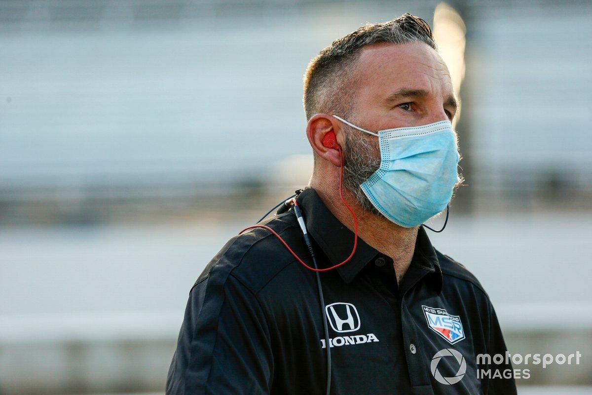 Meyer Shank Racing Honda crew member