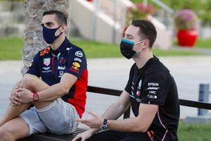 Sebastien Buemi, Test and Reserve Driver, Red Bull Racing, and Stoffel Vandoorne, Reserve Driver, Mercedes-AMG F1