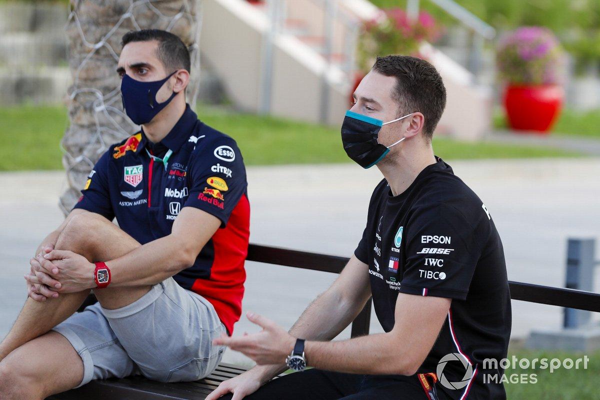 Sebastien Buemi, Pilota di riserva, Red Bull Racing, e Stoffel Vandoorne, pilota di riserva della Mercedes-AMG F1