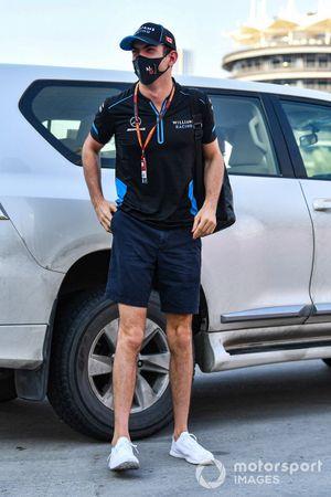Nicholas Latifi, Williams Racing, arriveert op het circuit