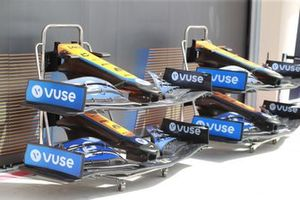 Front wings outside the McLaren garage