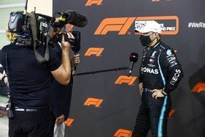 Valtteri Bottas, Mercedes-AMG F1, 2nd position, is interviewed after the race