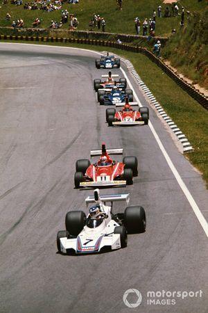 Carlos Reutemann, Brabham BT44B, Clay Regazzoni, Ferrari 312B3, Niki Lauda, Ferrari 312B3