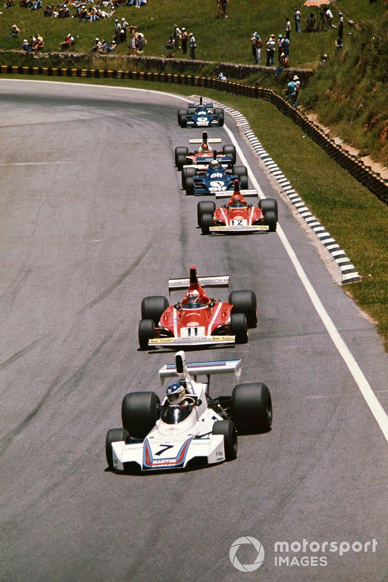 Carlos Reutemann, Brabham BT44B, Clay Regazzoni, Ferrari 312T, Niki Lauda, Ferrari 312T1