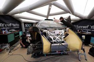 Mechanics in the Rosberg X Racing tent