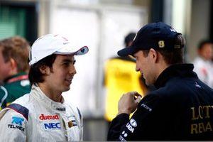Sergio Perez, Sauber C30 Ferrari, Vitaly Petrov, Lotus Renault GP R31