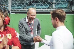 Sebastian Vettel, Ferrari with a guest