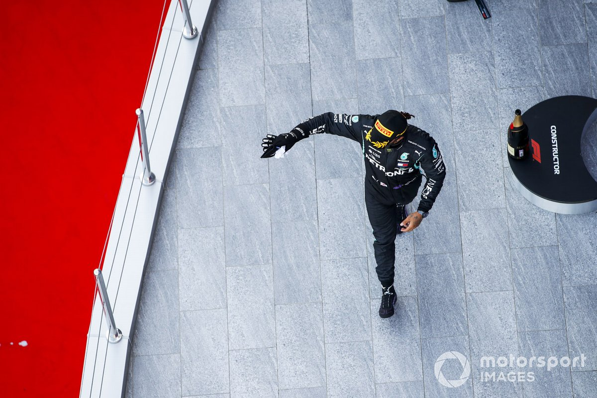 Podio: tercer lugar Lewis Hamilton, Mercedes-AMG F1