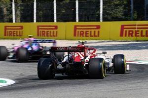 Antonio Giovinazzi, Alfa Romeo Racing C39 and Lance Stroll, Racing Point RP20