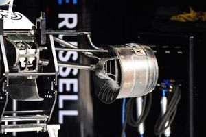 Brake and suspension details on the Williams FW43