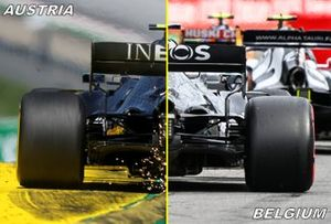 Comparación trasera del Mercedes F1 W11