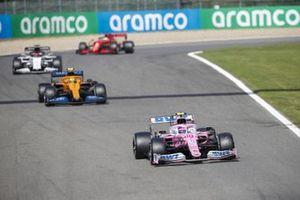 Lance Stroll, Racing Point RP20, Lando Norris, McLaren MCL35, and Daniil Kvyat, AlphaTauri AT01