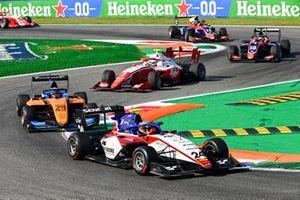 Igor Fraga, Charouz Racing System, Alexander Peroni, Campos Racing et Frederik Vesti, Prema Racing