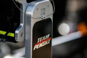 Simon Pagenaud, Team Penske Chevrolet, Close up detail of Penske logo