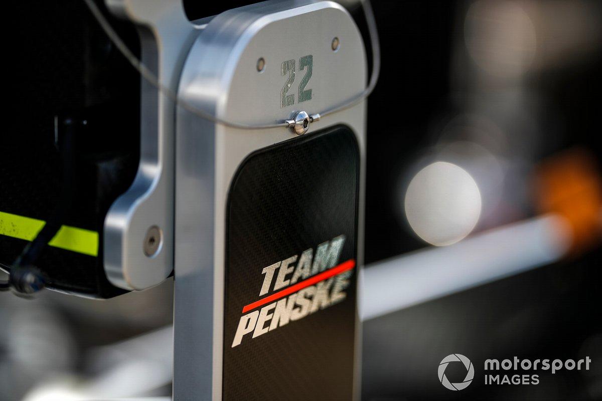 Simon Pagenaud, Team Penske Chevrolet, logo de Penske