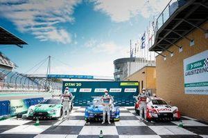 I primi 3 Qualificati: Pole sitter Robin Frijns, Audi Sport Team Abt Sportsline, Nico Müller, Audi Sport Team Abt Sportsline, René Rast, Audi Sport Team Rosberg